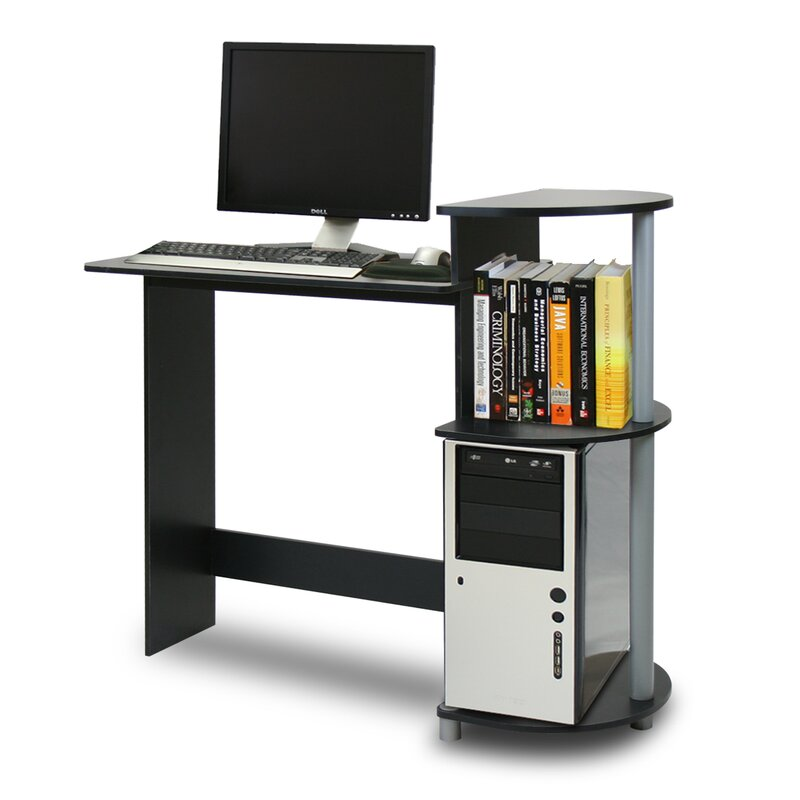 desk designs computer modern table small desktop desks compact speakers spaces simple for home office