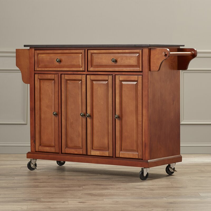 kitchen carts islands darby home co pottstown kitchen island with granite top 6504