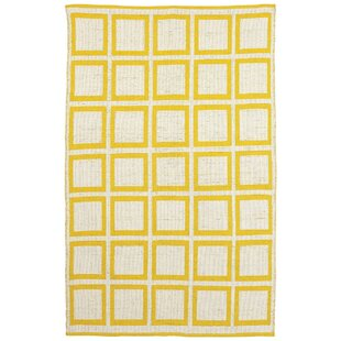 Sunny Handwoven Cotton Mimosa Outdoor Rug by Fab Hab