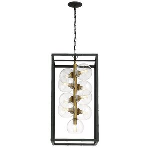 Joanna 9-Light Linear Shaded Chandelier