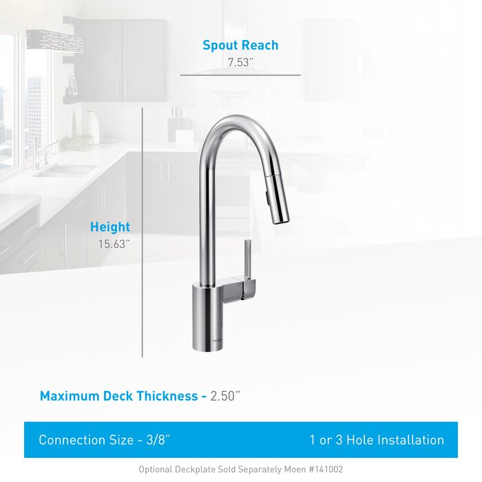 Moen Align Pull Down Single Handle Kitchen Faucet Reviews Wayfair Ca
