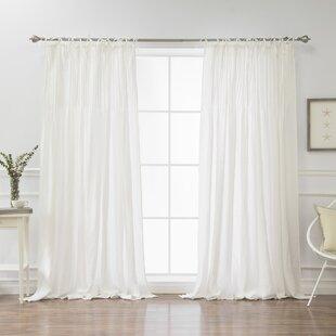 Tie Top Curtains White Wayfair