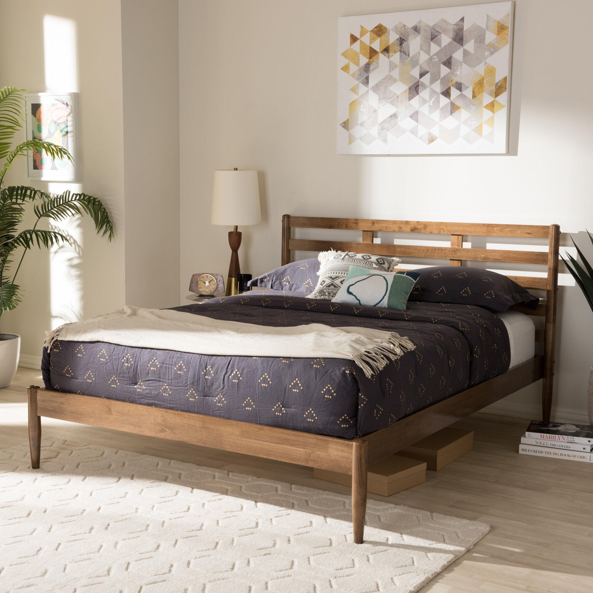 Corrigan Studio Jamar Mid Century Modern Platform Bed