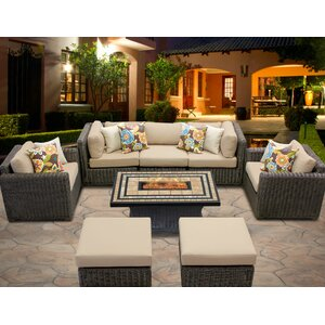 Venice 8 Piece Sofa Set with Cushions