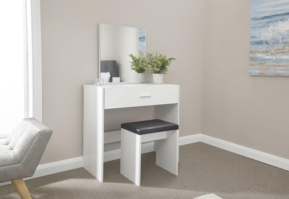 metro lane schminktisch set tabatha mit spiegel bewertungen. Black Bedroom Furniture Sets. Home Design Ideas