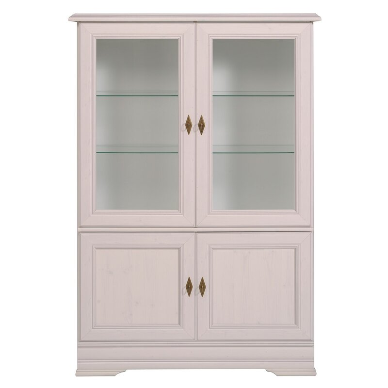 Parisot Elise Glass Door Standard China Cabinet Reviews Wayfair