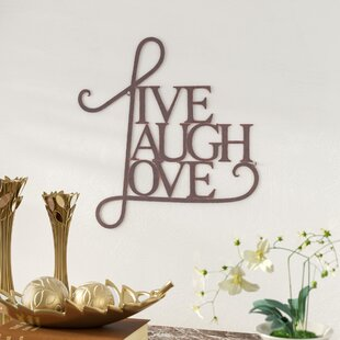 Live Laugh Love Metal Wall Art | Wayfair