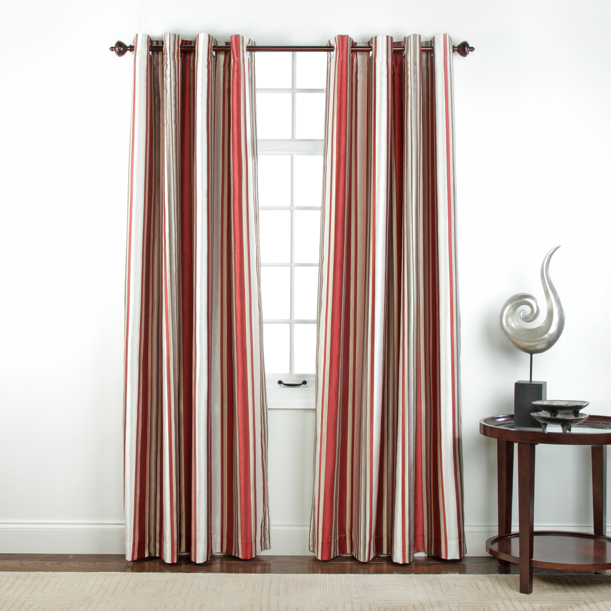 panel striped blackout dp set of curtain decor com darkening lush room kitchen x black amazon home window curtains pair wilbur stripe inch