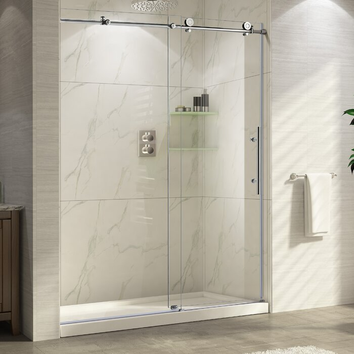 Wet Republic Trident 48 X 76 Single Sliding Frameless Shower