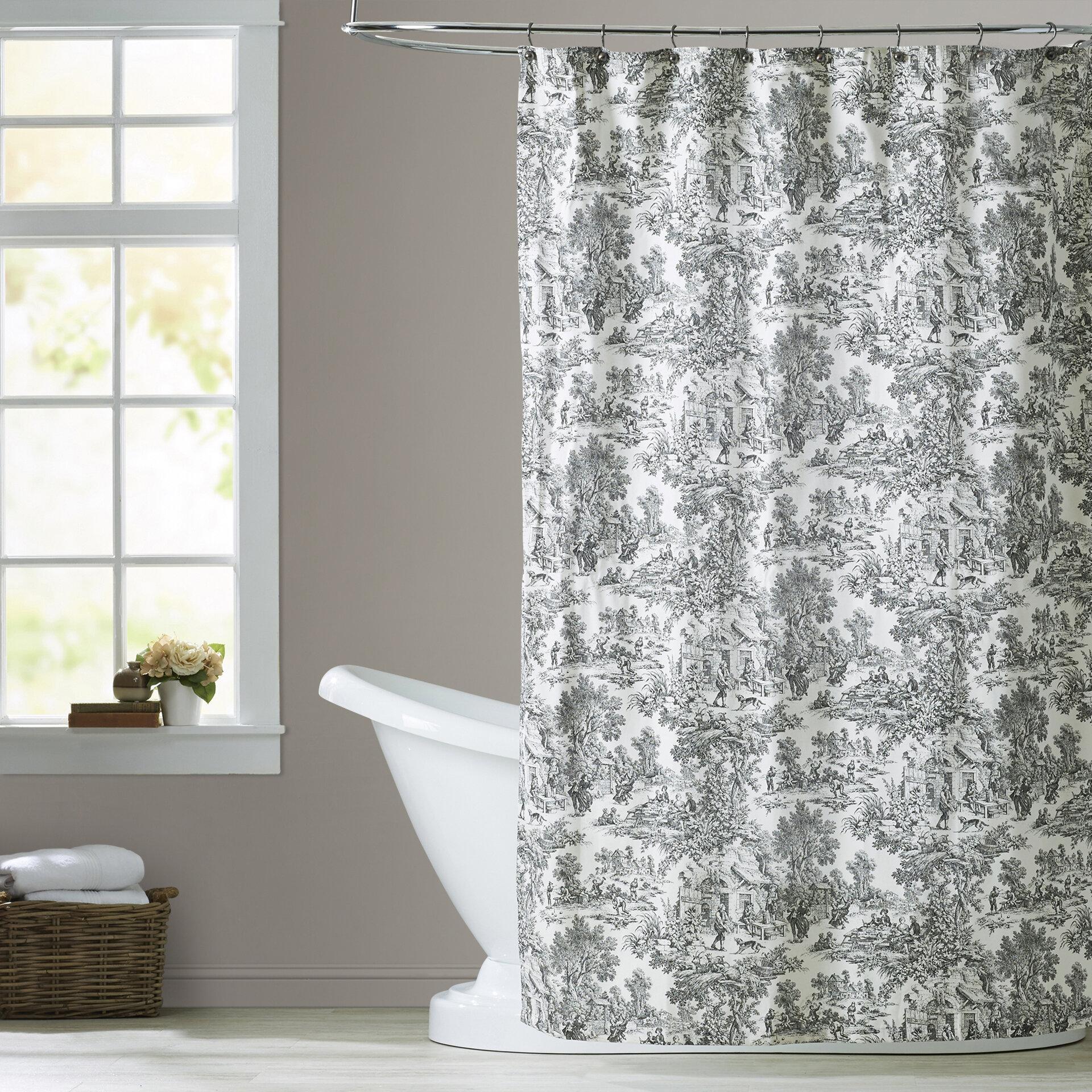 Lark Manor Gatineau Cotton Toile Shower Curtain & Reviews | Wayfair