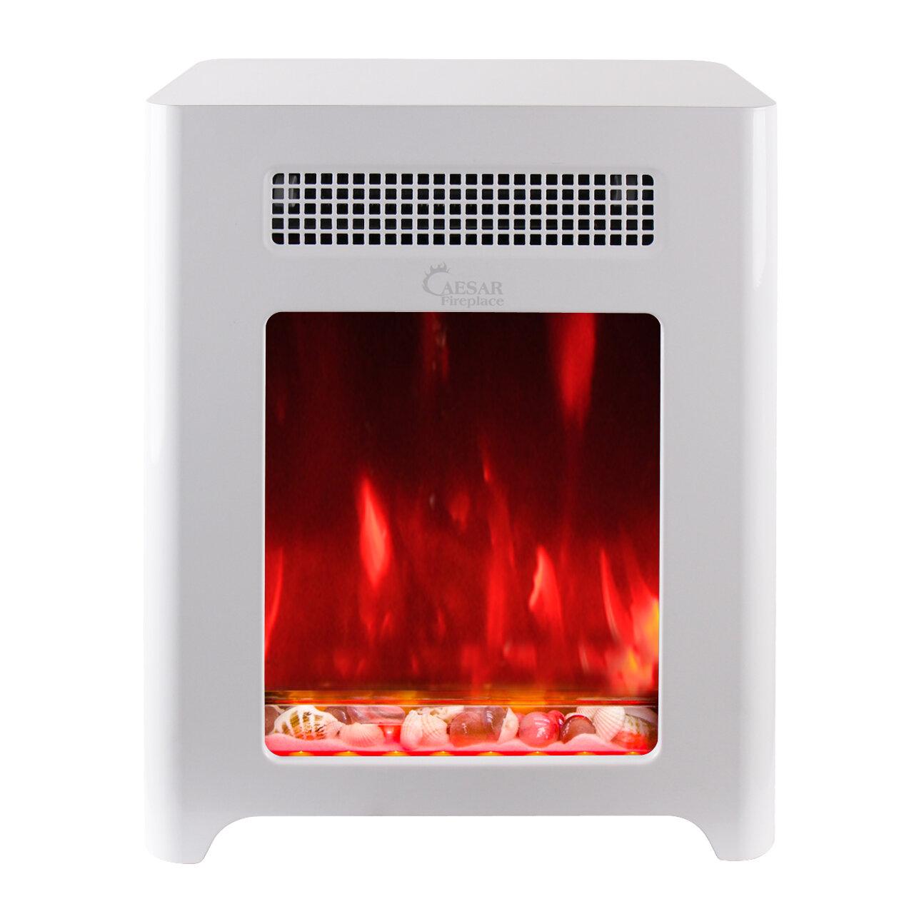 mini electric fireplace heater. Caesar Hardware International Limited Luxury Portable Mini Indoor Compact Freestanding Electric Fireplace | Wayfair Heater E