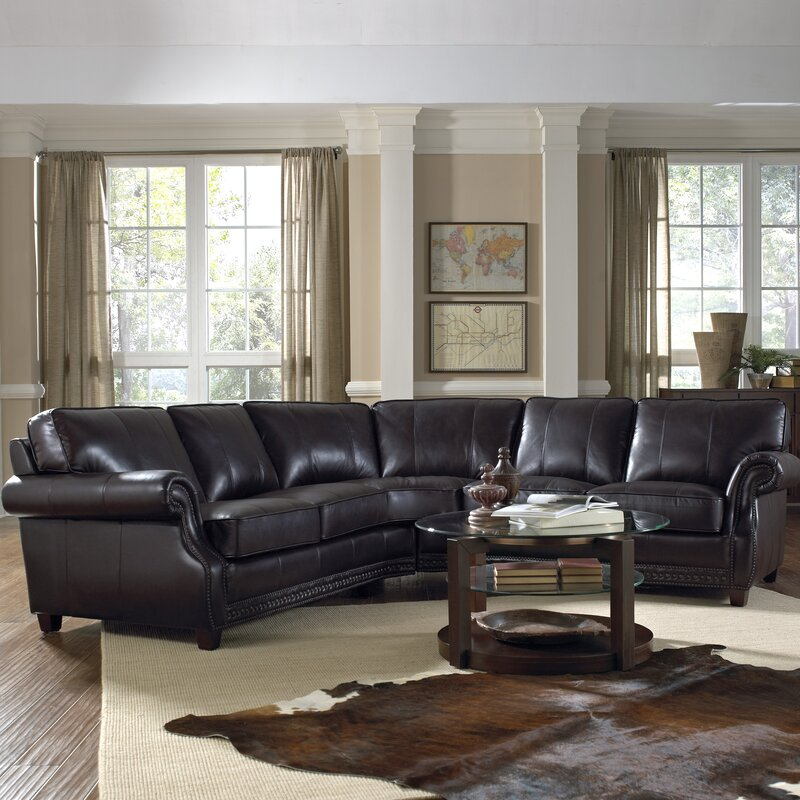 Anna Leather Sectional : easton leather sectional - Sectionals, Sofas & Couches