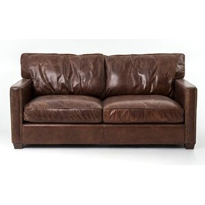 Grandfield Espresso Leather Sofa by Trent Austin Design