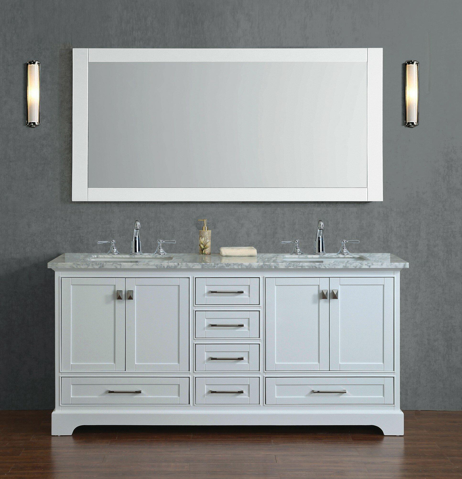 Willa Arlo Interiors Stian 72 Double Bathroom Vanity Set With