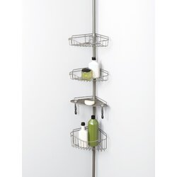 Tension Pole Corner Shower Caddy versalot tension pole corner shower caddy & reviews | wayfair