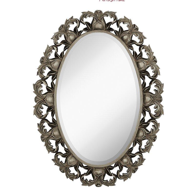 Majestic Mirror Oval Beveled Glass Framed Wall Mirror | Wayfair