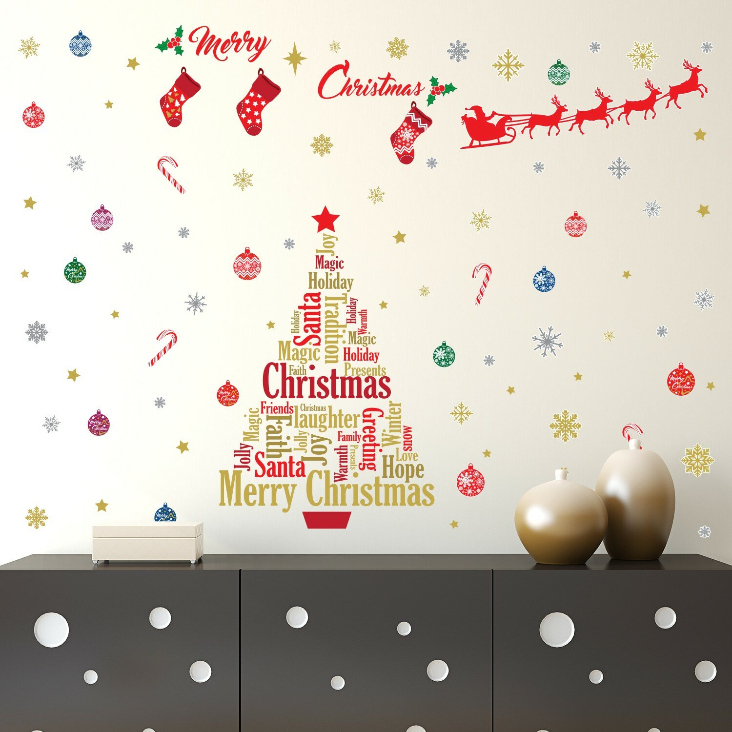 the holiday aisle english quotes christmas decoration wall decal wayfair