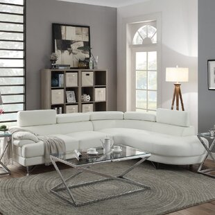 Faux Leather White Sectional Sofas Youll Love Wayfair