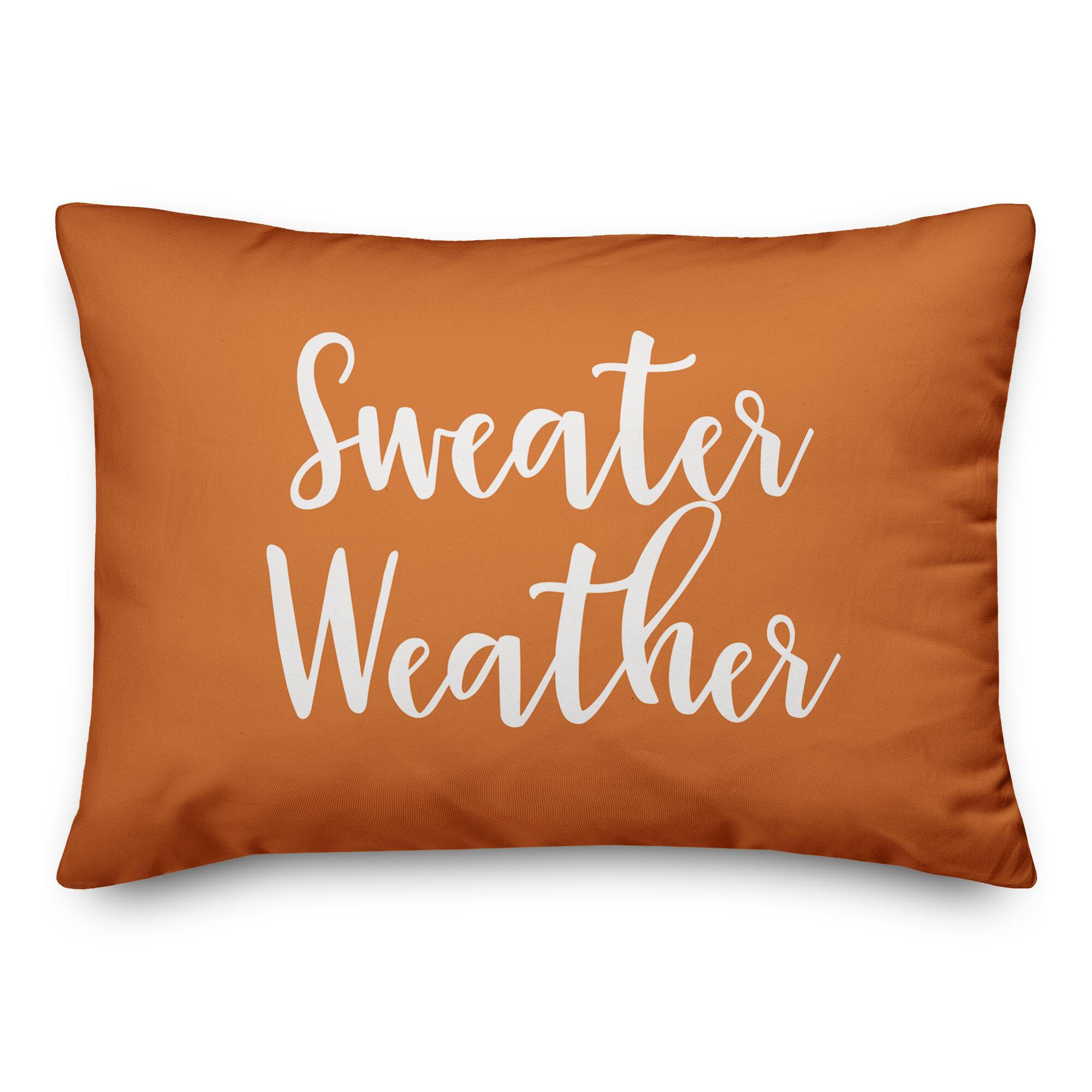 Winston Porter Nicks Sweater Weather Lumbar Pillow Wayfair