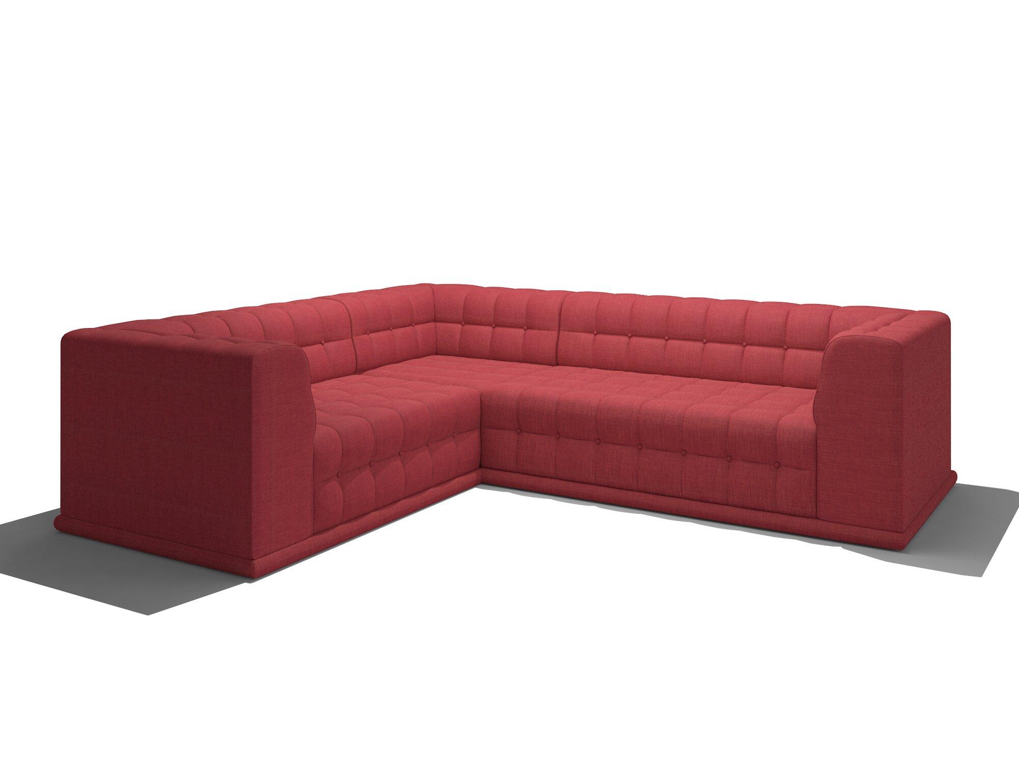 Truemodern bump bump corner sectional wayfair