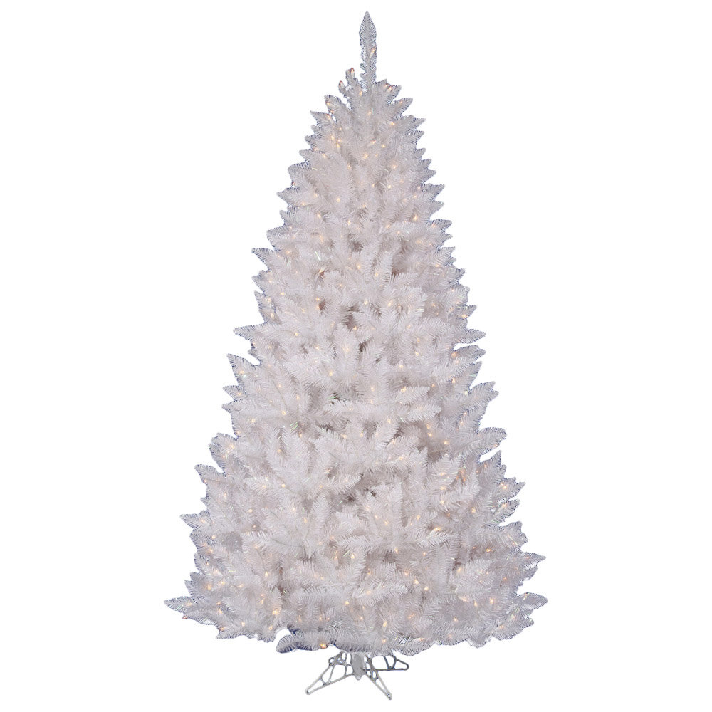 The Holiday Aisle Crystal White Spruce 6.5\' Artificial Christmas ...