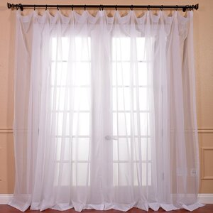 Banstead Extra Wide Voile Poly Sheer Single Curtain Panel