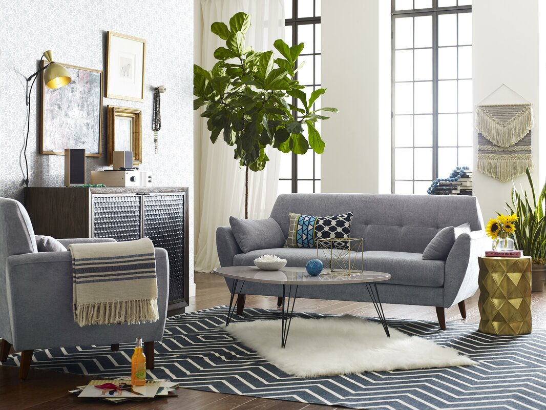 Elle Decor Amelie Mid Century Modern Sofa Amp Reviews Wayfair