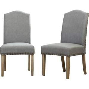 Mod Urban Style Solid Wood Nailhead Fabric Padded Parson Chair (Set of 2) by Roundhill Furniture