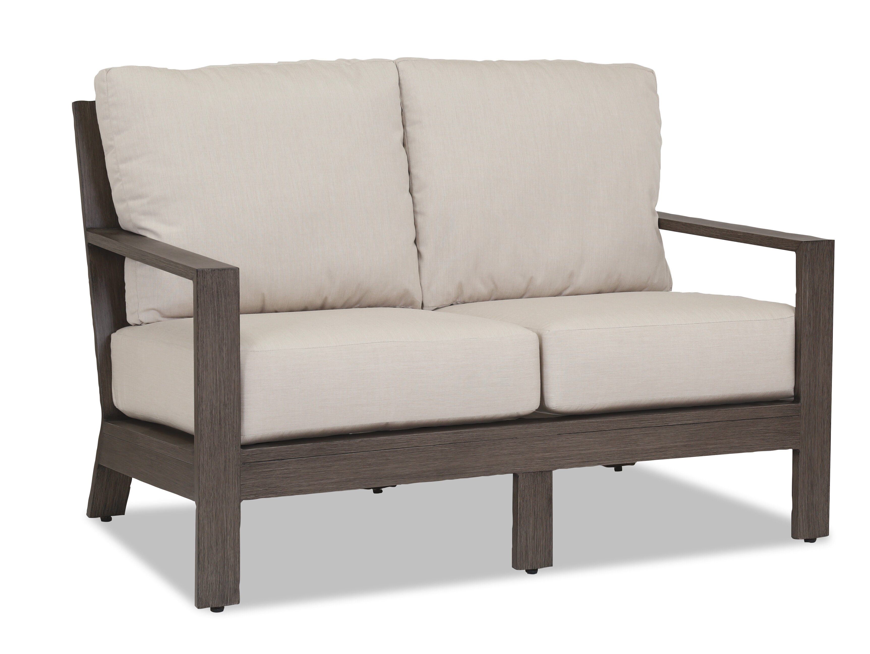 mcguire product vintage bamboo cathedral back loveseat sofa chairish