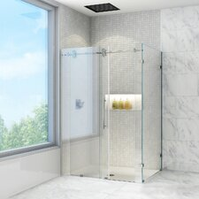 frameless sliding shower enclosure with 375in