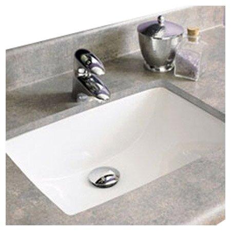 Bathroom Sinks Rectangular decolav classic rectangular undermount bathroom sink with overflow