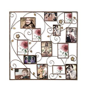 Kirsty 14 Opening Decorative Bronze-Color Iron Photo Collage Wall Hanging Picture Frame