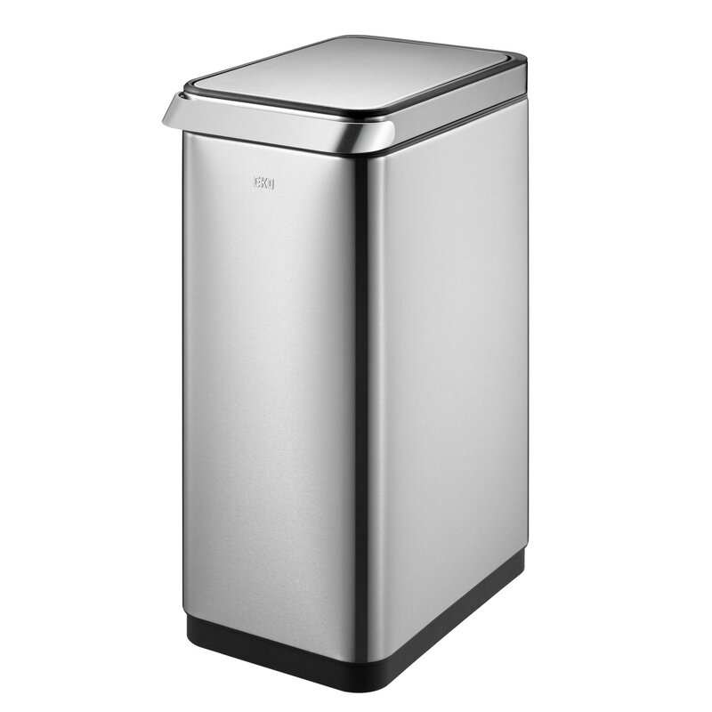 13 Gallon Rectangular Extra Wide Stainless Steel Sensor Trash Can