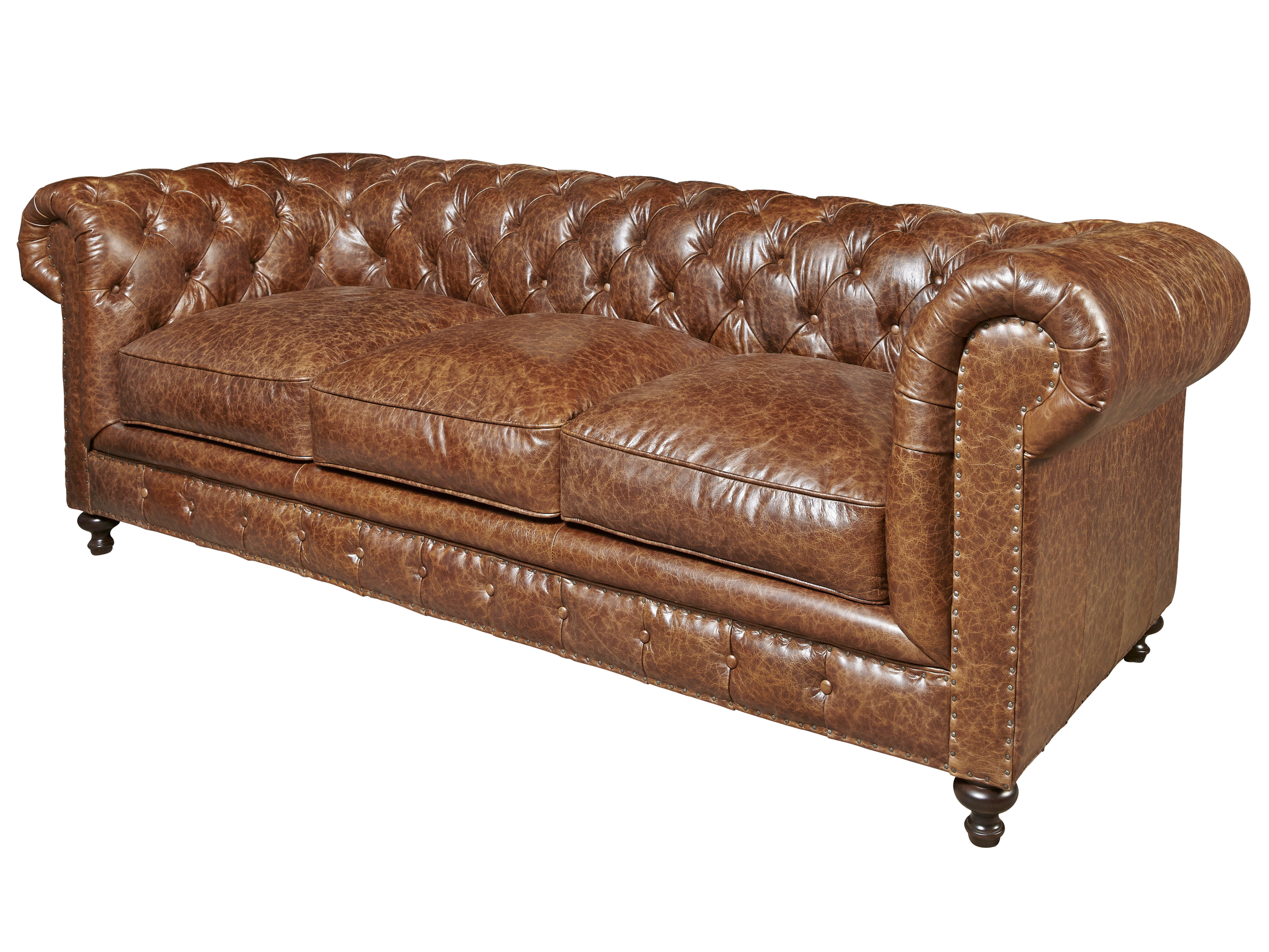Trent Austin Design Julesburg Leather Chesterfield Sofa Reviews