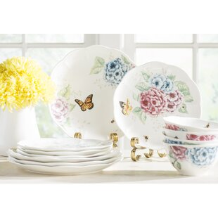 Butterfly Meadow Hydrangea 12 Piece Dinnerware Set Service for 4  sc 1 st  Wayfair & Dragonfly Dinnerware | Wayfair