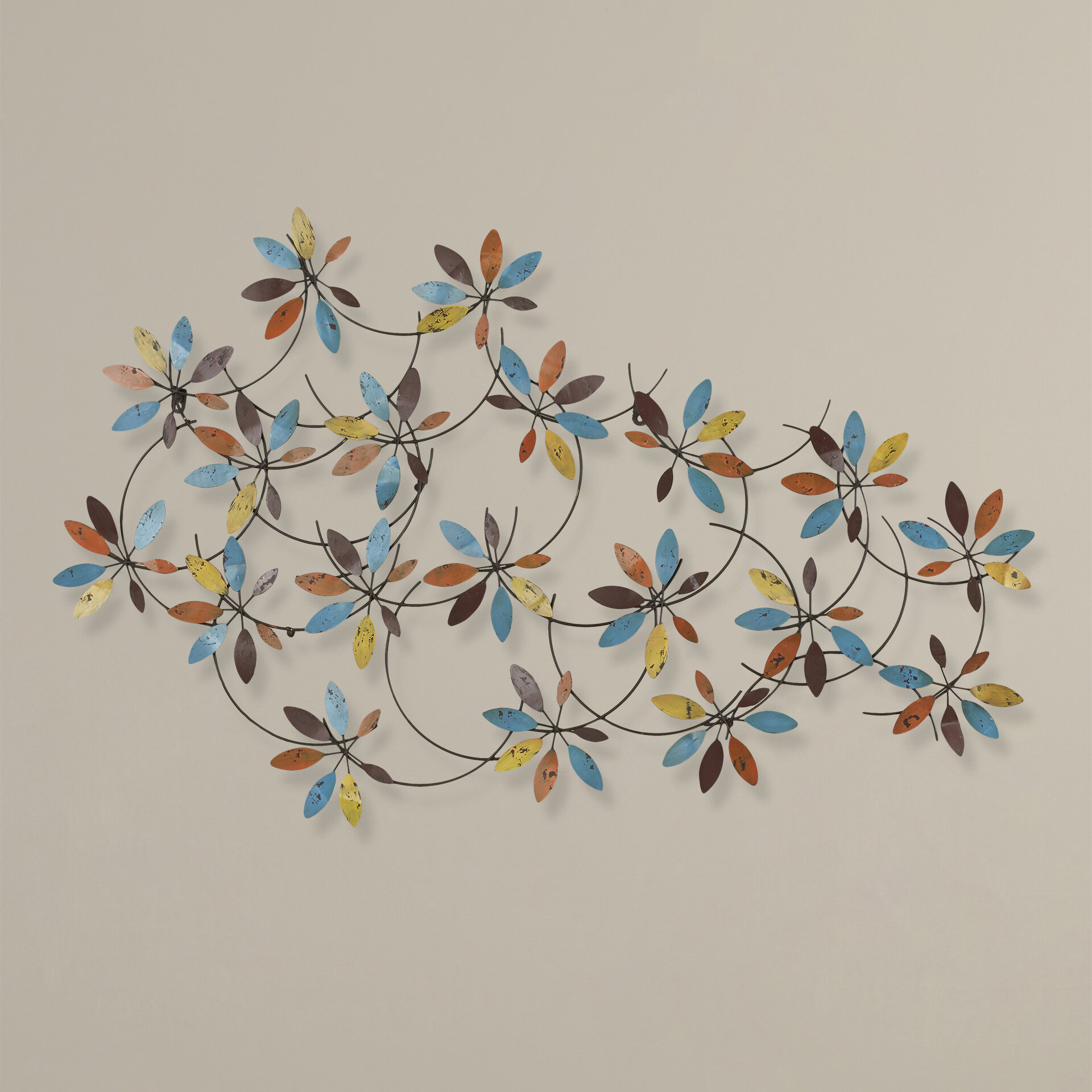 leaf pin metal at branches sunrise wall of sculpture touch decor class