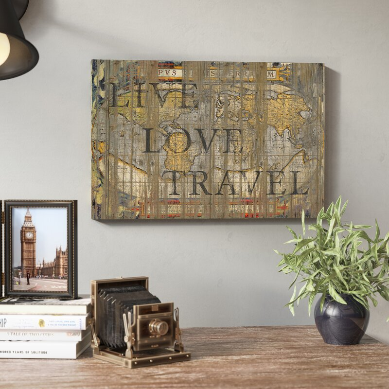 Live Love Travel By Go Trigall Graphic Art Print