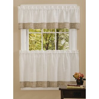 Our Favorite Kitchen Curtains | Wayfair on kitchen curtain ideas, kitchen valances, kitchen curtains cafe style, drape over sink, kitchen & tier swag curtains, window above sink, kitchen sink window, kitchen door curtains, curtains for window over sink,