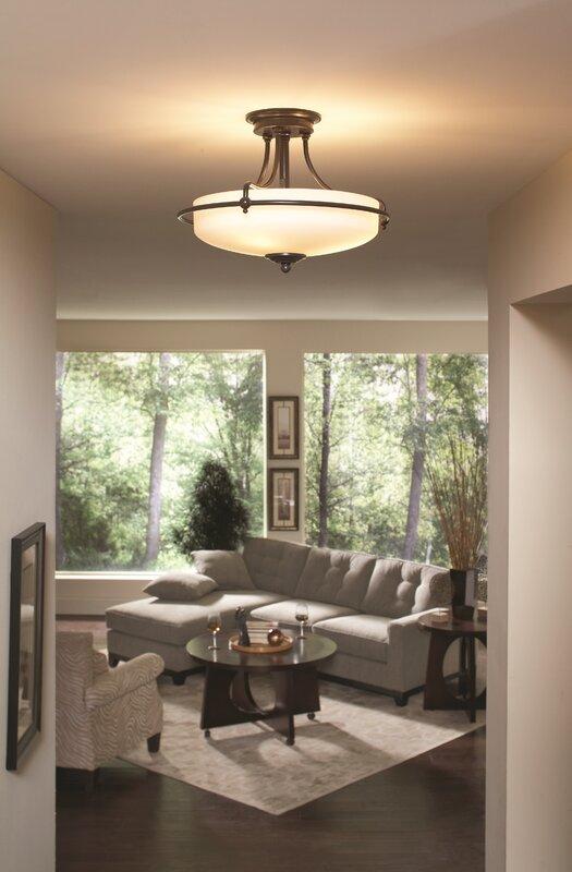 3 Light Semi Flush Ceiling Light Part 90