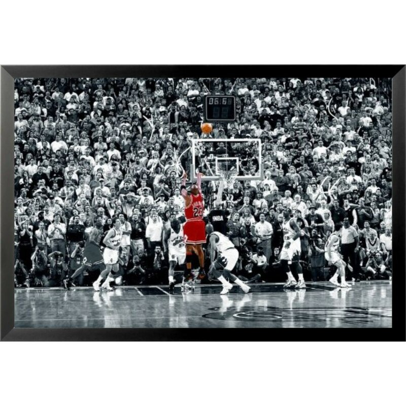 4a93d393418 'Michael Jordan - the Last Shot Sports - NBA Chicago Bulls Superstar Legend  Black and. '
