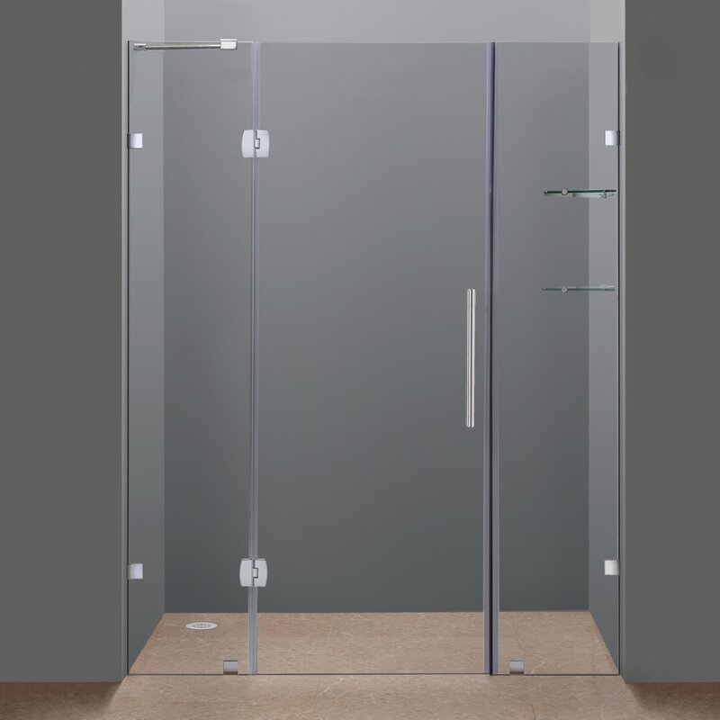 Hinged Frameless Shower Door Gallery - doors design modern