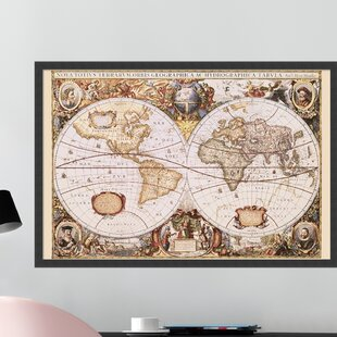 Large Framed World Wall Maps | Wayfair
