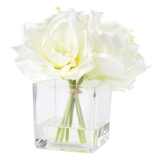Artificial flower arrangements youll love wayfair lily arrangement in glass vase mightylinksfo