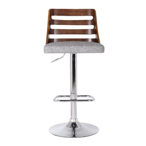 Lavallette Adjustable Height Swivel Bar Stool by Wade Logan