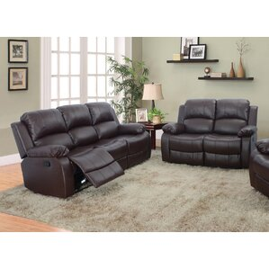 Maumee 2 Piece Leather Living Room Set