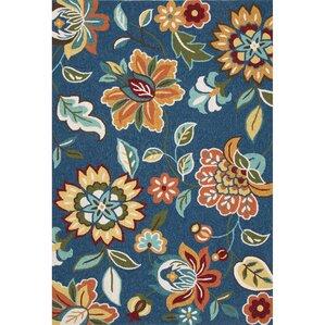handtufted blueorange area rug