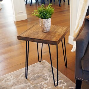 Lerner Old Elm Wood End Table ..