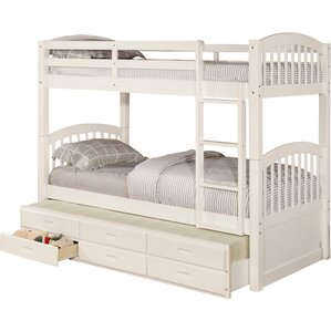 kamryn twin over twin bunk bed with trundle and storage