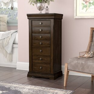 Marvelous Galiena Wood Jewelry Armoire With Mirror
