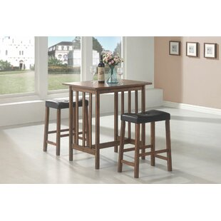 Mahaney Casual 3 Pieces Pub Table Set